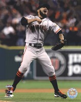 Sergio Romo Celebrates Winning Game 4 of the 2012 World Series Fine-Art Print