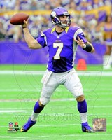 Christian Ponder 2012 throwing the ball Fine-Art Print