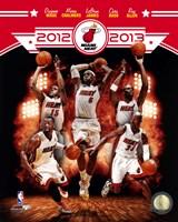 Miami Heat 2012-13 Team Composite Fine-Art Print