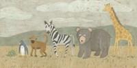 Animals All in a Row II Fine-Art Print