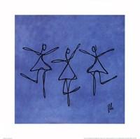 Peace - Blue Dancers Fine-Art Print