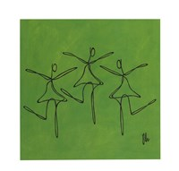 Love - Green Dancers Fine-Art Print