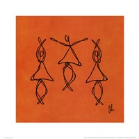 Hope - Orange Dancers Fine-Art Print