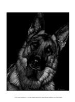 Canine Scratchboard II Fine-Art Print