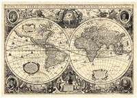 Vintage World Map - Orbis Geographica Fine-Art Print