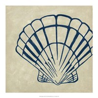 Indigo Shell III Fine-Art Print