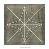 Geometric Blueprint I Fine-Art Print