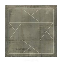 Geometric Blueprint II Fine-Art Print