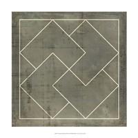 Geometric Blueprint III Fine-Art Print