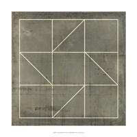 Geometric Blueprint IV Fine-Art Print