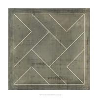 Geometric Blueprint VI Fine-Art Print