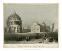 Baptistry, Cathedral &Leaning Tower Fine-Art Print