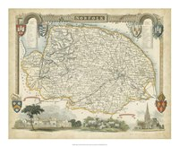 Map of Norfolk Fine-Art Print