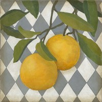 Fruit and Pattern IV Framed Print