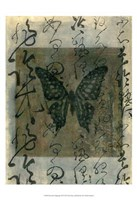 Butterfly Calligraphy III Fine-Art Print