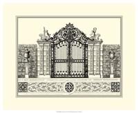 B&W Grand Garden Gate II Fine-Art Print