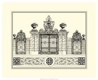 B&W Grand Garden Gate IV Fine-Art Print