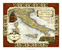 Wine Map of Italy Fine-Art Print