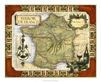 Wine Map of France Fine-Art Print
