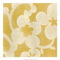 Suzani Silhouette in Yellow I Fine-Art Print