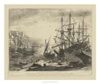 Antique Harbor III Fine-Art Print