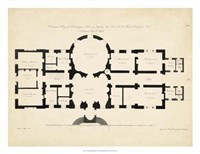Antique Building Plan I Fine-Art Print