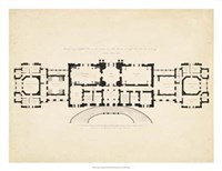 Antique Building Plan III Fine-Art Print