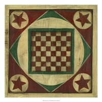 Antique Checkers Fine-Art Print