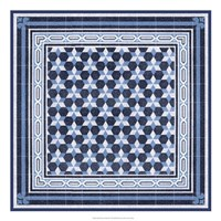Italian Mosaic in Blue III Fine-Art Print
