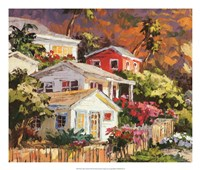 Beach Cottage Community Fine-Art Print
