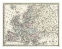 Map of Europe Fine-Art Print