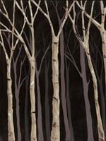 Midnight Birches I Fine-Art Print