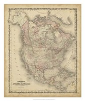 Johnson's Map of North America Fine-Art Print