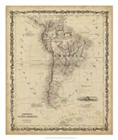 Johnson's Map of South America Fine-Art Print