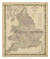 Johnson's Map of England & Wales Fine-Art Print