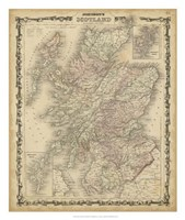 Johnson's Map of Scotland Fine-Art Print