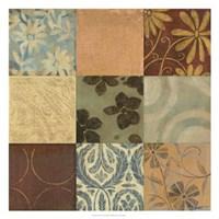 Textile Patterns 9-patch Fine-Art Print