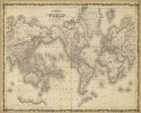 Johnson's Map of the World Fine-Art Print