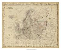 Johnson's Map of Europe Fine-Art Print