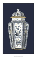Asian Urn in Blue & White I Fine-Art Print