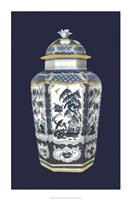 Asian Urn in Blue & White II Fine-Art Print