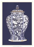Blue & White Porcelain Vase I Fine-Art Print