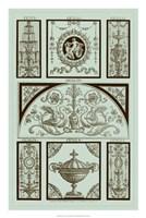 Panel in Celadon III Fine-Art Print