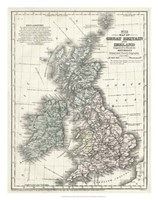 Mitchell's Map of Great Britain & Ireland Fine-Art Print