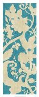Linen Silhouette on Teal II Fine-Art Print