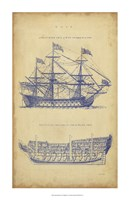 Vintage Ship Blueprint Fine-Art Print