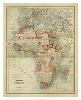 Antique Map of Africa Fine-Art Print