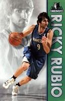 Timberwolves - R Rubio 12 Wall Poster