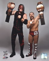 Daniel Bryan & Kane with the Tag Team Championship Belts 2012 Posed Fine-Art Print