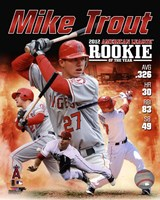 Mike Trout 2012 American League Rookie of the year Composite Fine-Art Print
